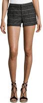 Joie Chalina Striped Linen Shorts, Black Pattern