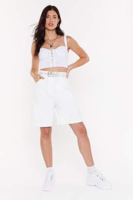 Nasty Gal Womens Raise Your Standards High-Waisted Shorts - White - 6, White