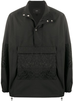 Stampd Lightweight Jacket With Leopard Print Pockets
