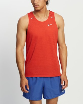Nike Men's Red Muscle Tops - Rise 365 Running Tank - Size L at The Iconic