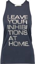 Halston Metallic printed modal-jersey tank
