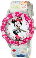 Disney Kids' W001976 Minnie Mouse Watch with Multicolor Nylon Band