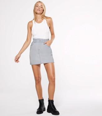New Look Petite High Waist Denim Skirt