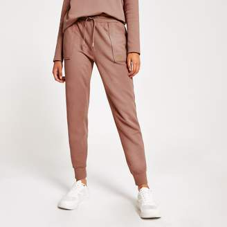 River Island Womens Pink RI utility jogger