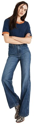 Madewell 11'' High-Rise Flare Jeans in Mersey Wash: Welt Pocket Edition (Mersey Wash) Women's Jeans