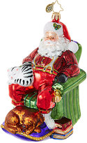 Christopher Radko Snoozing Santa Ornament