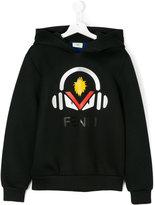 Fendi teen printed hoodie