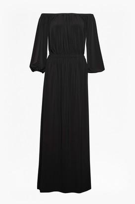 French Connection Adele Drape Bardot Jersey Maxi Dress