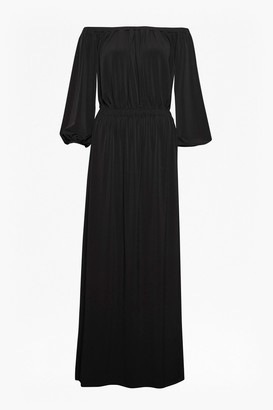 French Connection Adele Drape Bardot Jersey Maxi Dress