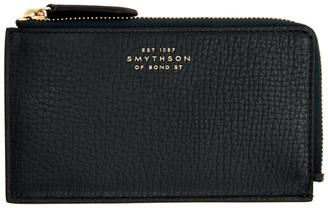 Smythson Green Burlington 4 Card Flat Wallet