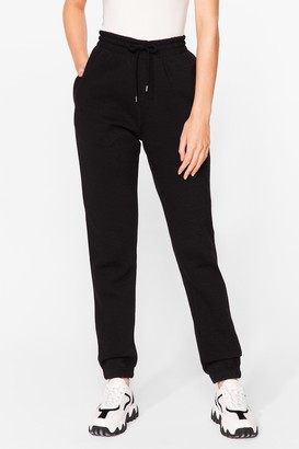 Nasty Gal Womens Run Through It High-Waisted Joggers - Black - S, Black