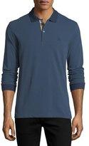 Burberry Lawford Long-Sleeve Polo Shirt