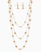 Charming charlie Beaded Flurry Necklace Set