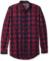 Wrangler Men's Big and Tall Retro Button Plaid Long Sleeve Shirt