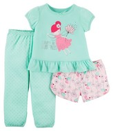 Just One You made by carter Toddler Girls' 3-Piece Fairy Tales Pajama Set - Mint Green - Just One You Made by Carter's®