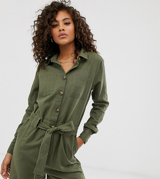 Only Tall utility playsuit-Green