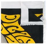 Dries Van Noten 'Front' poster print scarf