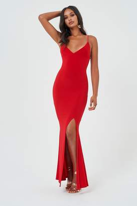Red Maxi Dress Split Shopstyle Uk