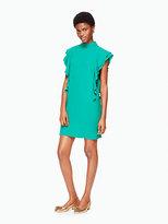 Kate Spade Satin crepe flutter sleeve dress