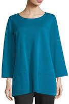 Caroline Rose 3/4-Sleeve Front-Pocket Tunic