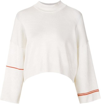 OSKLEN Cropped Striped Sleeve Jumper
