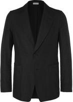 Dries Van Noten Black Cotton and Linen-Blend Blazer