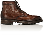 Officine Creative Men's Burnished Leather Lace-Up Boots-DARK BROWN