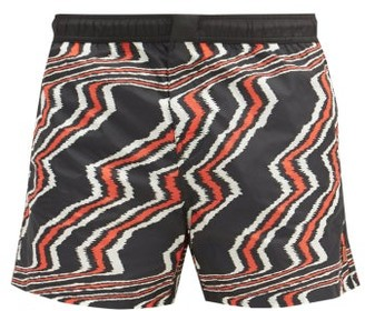 Missoni Mare - Zigzag-print Swim Shorts - Red Multi