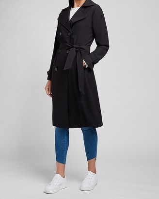 Express Belted Double Breasted Trench Coat