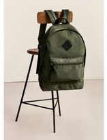 River Island Mens Dark khaki green front pocket backpack