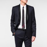 Paul Smith Men's Mid-Fit Navy 'Raining Dot' Wool Shawl-Collar Blazer