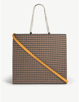 Victoria Beckham Tweed and leather tote bag