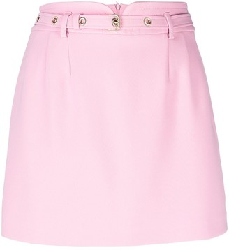 RED Valentino High-Waisted Belted Skort