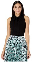 Milly Tie Neck Shell (Black) Women's Clothing