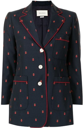 Gucci Pre-Owned Bee-Embroidered Blazer