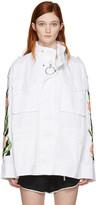 Off-White White Diagonal Tulips M65 Jacket