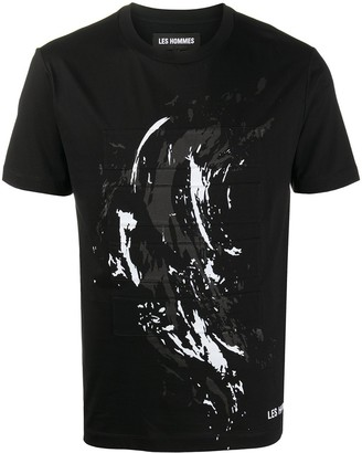 Les Hommes abstract-print T-shirt