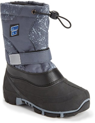 Storm Kidz Boys' Cold Weather Boots Gray - Gray Snowflake Strap Snow Boot - Boys