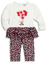 Hartstrings Baby's Two-Piece Teddy Bear Top & Polka Dot Pants Set
