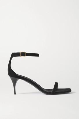 Saint Laurent Lexi Suede Sandals - Black