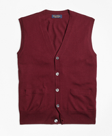 Brooks Brothers Saxxon Wool Button-Front Sweater Vest