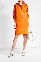 Max Mara Cotton Dress with Lace-Up Detail