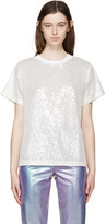 Ashish Off-White Sequin Mesh T-Shirt