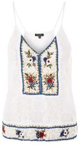 Topshop Embroidered swing camisole top
