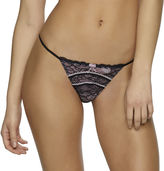 Jezebel Sylvia Lace-with-Contrast-Trim G-String Thong Panties