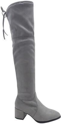 Wild Diva Lounge Catherine Over-the-Knee Block Heel Boot