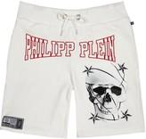 Philipp Plein Swarovski Crystal-embellished Jersey Shorts