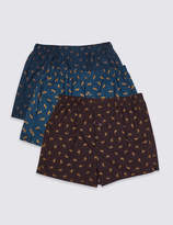 M&S CollectionMarks and Spencer 3 Pack Pure Cotton Animal Printed Boxers