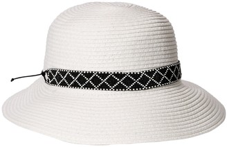 Physician Endorsed Women's Diamante Packable Straw Sun Hat Rated UPF 50+