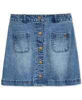 Tommy Hilfiger Button-Front Denim Skirt, Big Girls